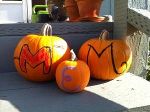 Monogrammed Pastel Pumpkins