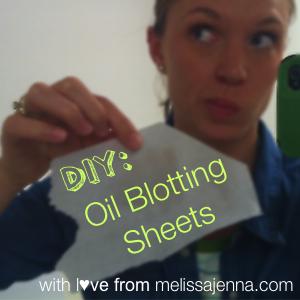 DIY Oil Blotting Sheets Melissa Jenna