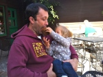 Ellie feeding dada muffin