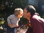 Ellie and dada kiss