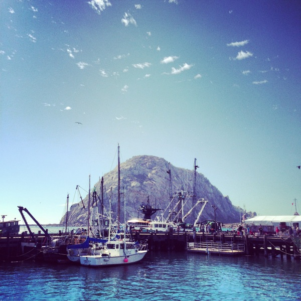 Morro Rock in Morro Bay Harbor
