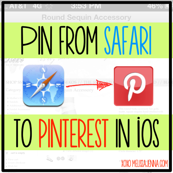 Pin From Safari to Pinterest in iOS